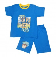 Chhota Bheem Short Set Half Sleeves - Blue