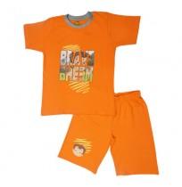Chhota Bheem Short Set Half Sleeves - Orange