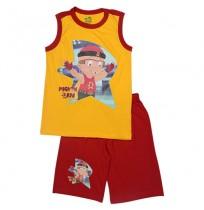 Mighty Raju Short Set - Yellow & Red