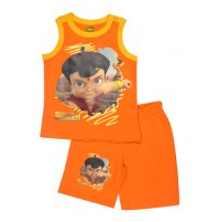 Super Bheem Short Set - Orange