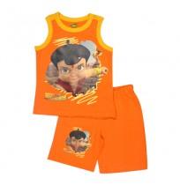 Super Bheem Short Set - Orange