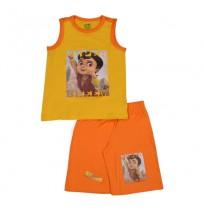 Super Bheem Short Set - Yellow & Orange