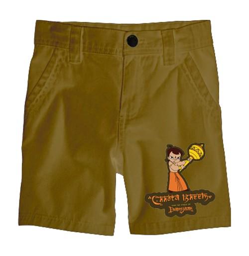 Chhota Bheem Shorts - Single - Khaki