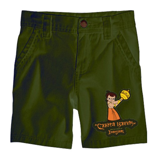Chhota Bheem Shorts - Single - Green