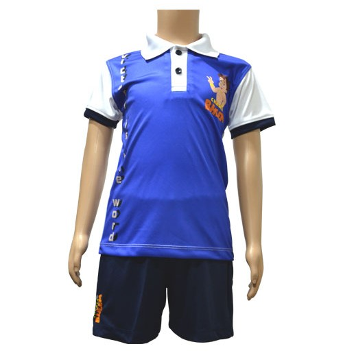 Poly Polo and Shorts - Olympian Blue