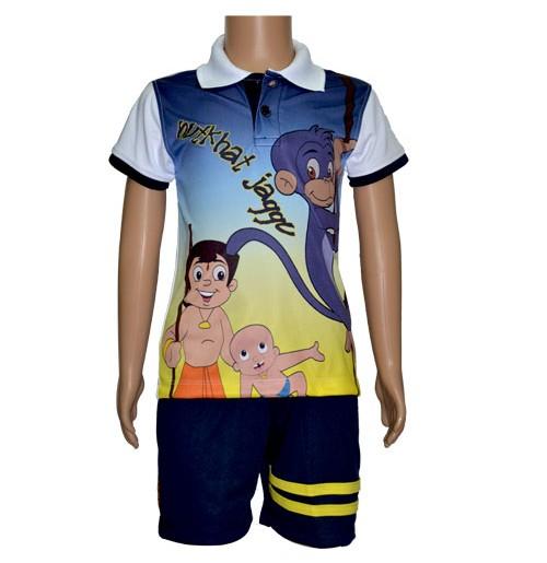 Poly Polo and Shorts - Peacoat