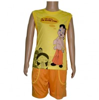 Basket Ball Vest and Short - Yellow and Orange