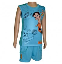 Basket Ball Vest and Short - Pacific Blue