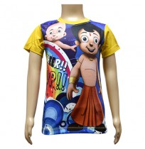 Boys Sublimation T-Shirt - Blue and Yellow