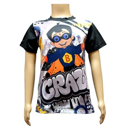 Boys Sublimation T-Shirt - Grey and Blue