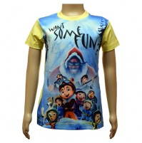 Boys Sublimation T-Shirt - White and Sky Blue