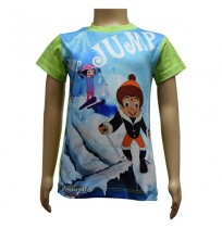 Boys Sublimation T-Shirt - Green and Blue