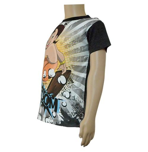 203d85689 Boys Sublimation T-Shirt - Grey and Black
