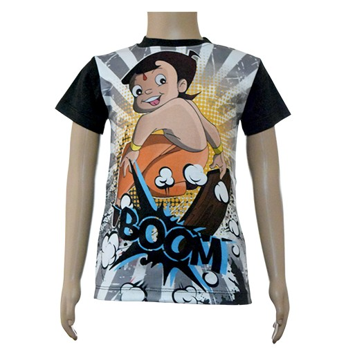 Boys Sublimation T-Shirt - Grey and Black