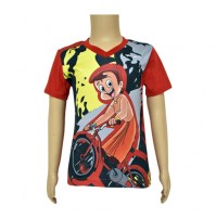 Chhota Bheem Sublimation T-shirt- Red