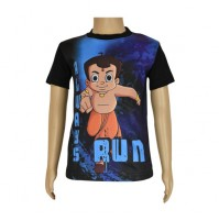Chhota Bheem Sublimation Black T-shirt