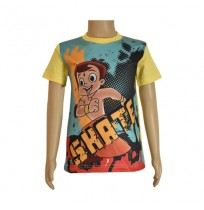 Chhota Bheem Sublimation T-shirt- Yellow