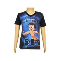 Chhota Bheem Sublimation Navy Blue T-shirt