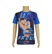 Chhota Bheem Sublimation Cobalt Blue T-shirt