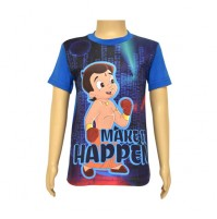 Chhota Bheem Sublimation T-shirt- Cobalt Blue