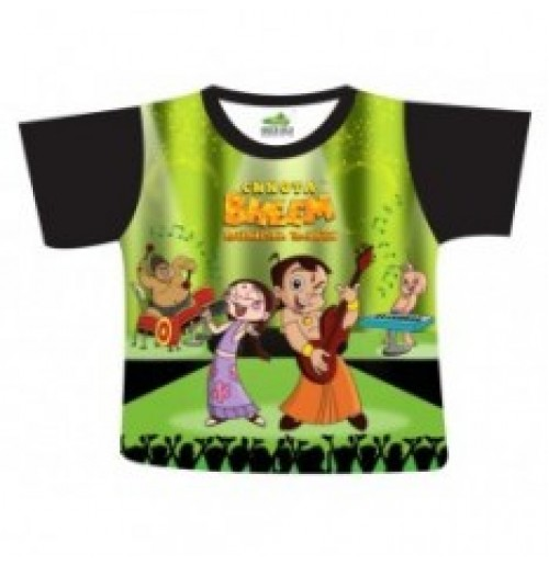 Chhota Bheem Lets Rock Sublimation T-Shirt