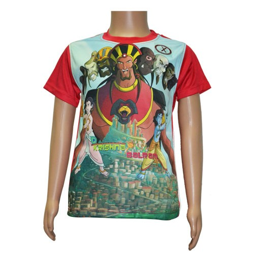 Kaalavakra - Red Sleeves Sublimation T-Shirt