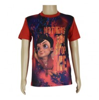 Super  Bheem Sublimation Red T-shirt