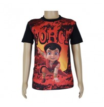 Super  Bheem Sublimation T-shirt- Black