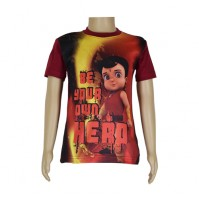 Super  Bheem Sublimation T-shirt- Maroon