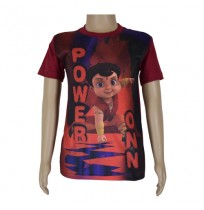 Super  Bheem Sublimation T-shirt Maroon
