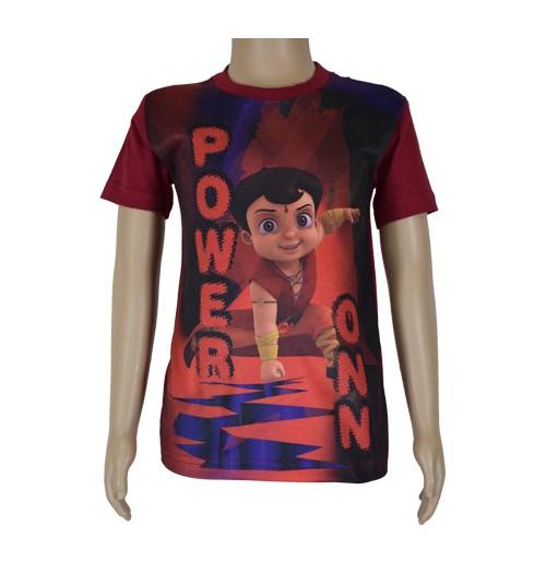 Super  Bheem Sublimation T-shirt Maroon