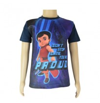 Super  Bheem Sublimation  Navy Blue T-shirt