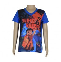 Super  Bheem Sublimation T-shirt- Cobalt Blue