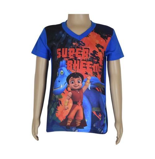 Super  Bheem Sublimation T-shirt- Cobalt Blue