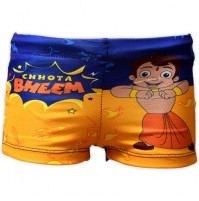 Chhota Bheem Boys Swim Shorts - Blue and Yellow