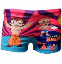 Chhota Bheem Boys Swim Shorts - Pink and Blue
