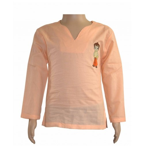 Chhota Bheem Kurta - Light Orange