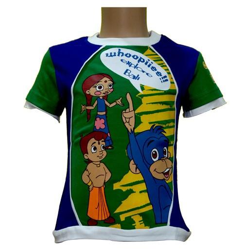 Bali T-Shirt - Green and Blue