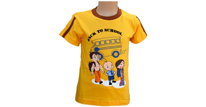 244c81e7 T-Shirts for Boys: Buy Chhota Bheem T- Shirt - Yellow | Pay on Delivery