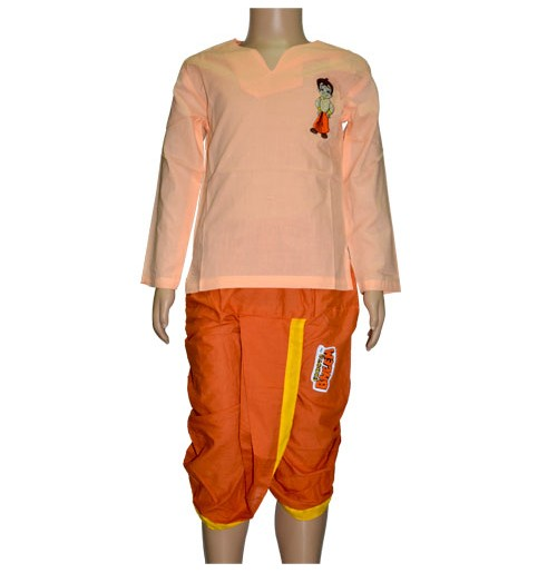 Chhota Bheem Dhoti - Orange