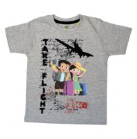 Chhota Bheem T Shirt - Grey Melange