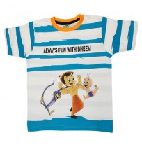 Chhota Bheem T Shirt - Blue & White
