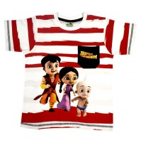 Super Bheem T Shirt - White & Red