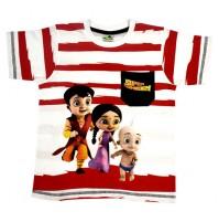 Super Bheem T Shirt - White & Red