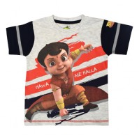 Super Bheem T Shirt - Grey Melange