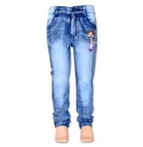 Chutki Girls Denim Pant - Blue