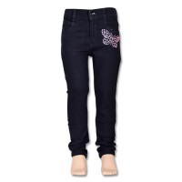 Chutki Girls Denim Pant - Black
