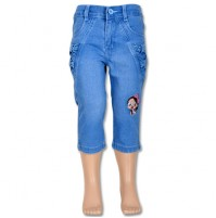 Chutki Girls Denim Pant - Light Blue