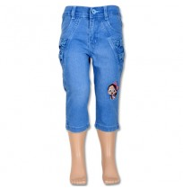 Chutki Girls Denim Pant - Light Blue
