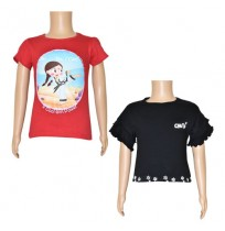Chutki T-shirts- Combo Red and Black